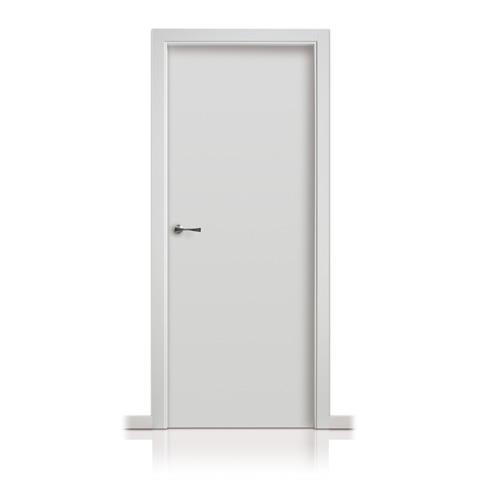 Puerta lisa lacada maderas garcia diego for Puertas semi macizas blancas