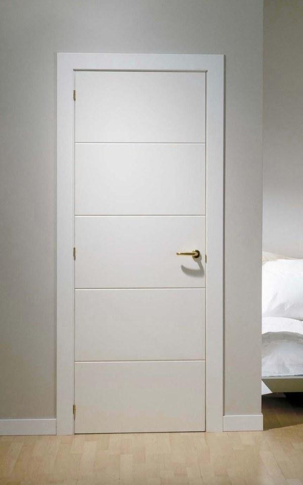 Puerta lacada mod mml4 maderas garcia diego - Puertas madera interior precios ...